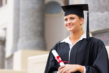 female college student at graduation