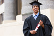 young african male graduate