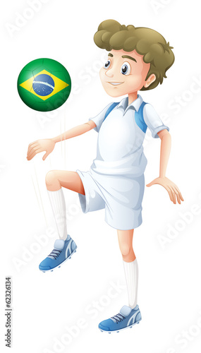 A soccer player from Brazil