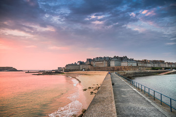 View of Saint Malo, France