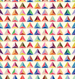 seamless of pastel triangle background vector