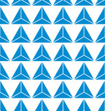 seamless of blue abstract triangle background vector