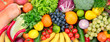 canvas print picture - fresh fruits and vegetables