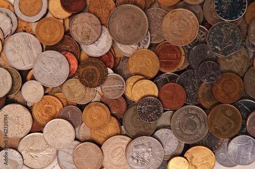 europe and world coins background