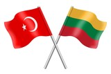 Flags: Turkey and Lithuania