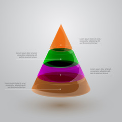 glass pyramid infographic