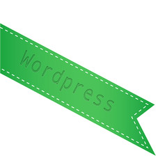 Cinta verde wordpress