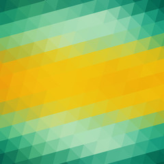 Abstract Green Yellow Triangle Background