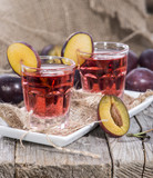 Glass with Plum Liqueur