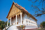 Vientiane, Laos: Temple and Wheel of Law