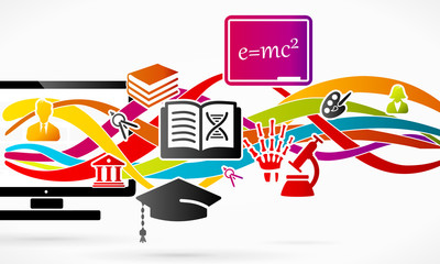 E-learning services using internet connected computer
