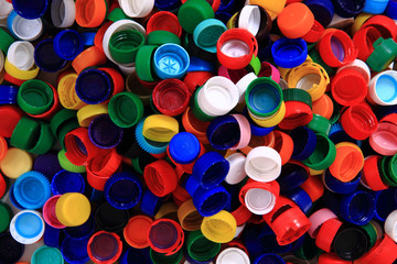 color plastic caps background