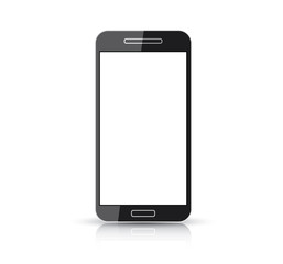 Flat and simplistic black creative smart phone vector