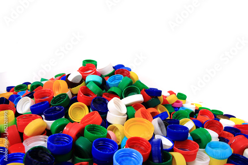 color plastic caps (from PET)