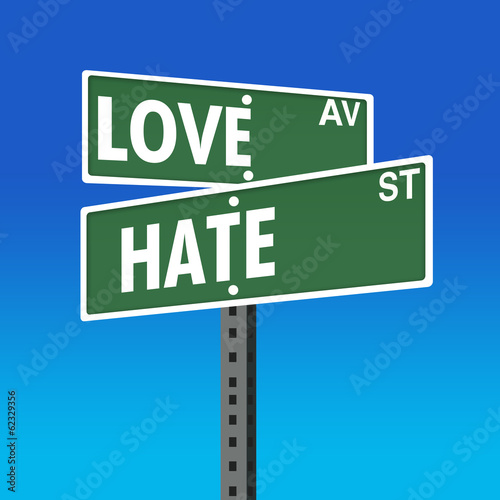Concept Signage Board-Love or Hate