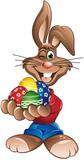 Easter Rabbit eggs in hands