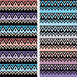 Tribal seamless two patterns, aztec ombre print