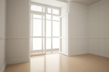 Leeres Zimmer in Wohnung im Altbau