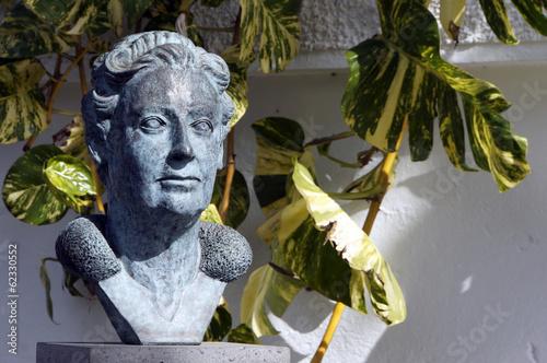 Leinwanddruck Bild Agatha Christie Denkmal