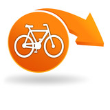 cycles sur bouton orange