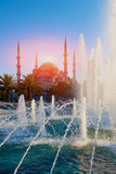 Sultanahmet Mosque and fountain