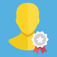 Vector Account Award Icon