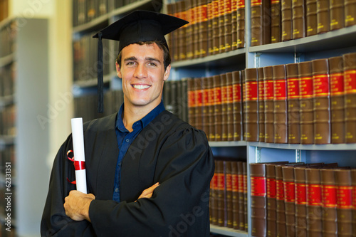 handsome university law school graduate