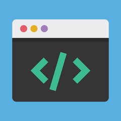Vector Coding Icon