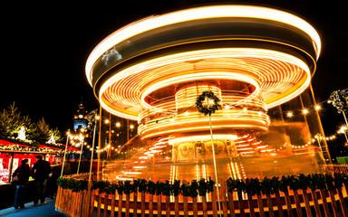Edinburgh Carousel at Christmas Time
