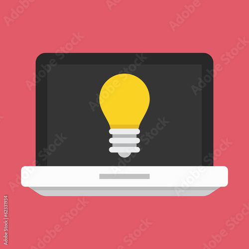 Vector Laptop Web Idea Icon
