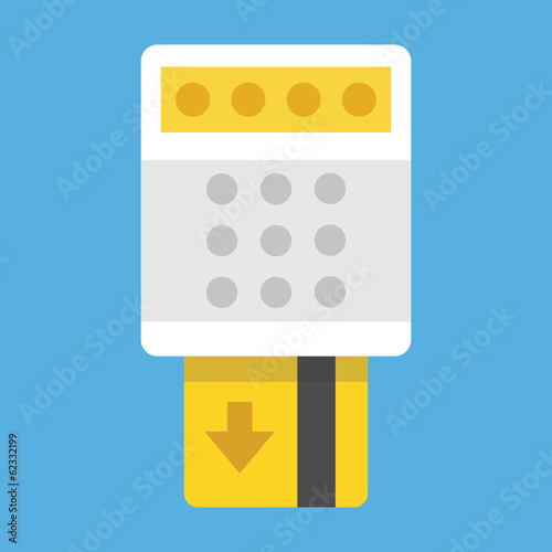Vector Remove Credit Card from Terminal Icon