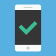 Vector Smartphone and Check Mark Icon