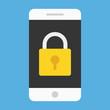 Vector Smartphone Lock Screen Icon