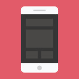 Vector Smartphone Responsive Web Design Icon