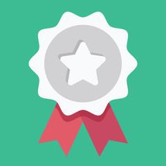 Vector Silver Award Icon