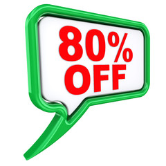 80% OFF. Speech bubbles