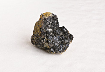 Ural's stone -  chromite on white