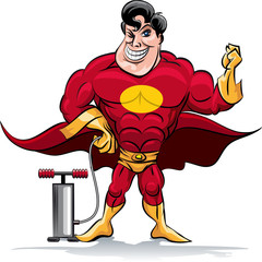 Pumping superhero