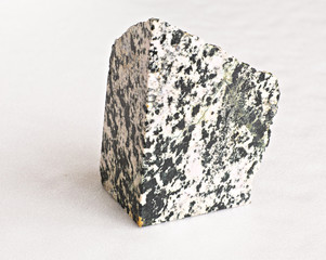 Ural's stone -  zoisite on white