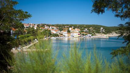 Panorama colour image of Croatia, Kvarner, Krk Island, Silo