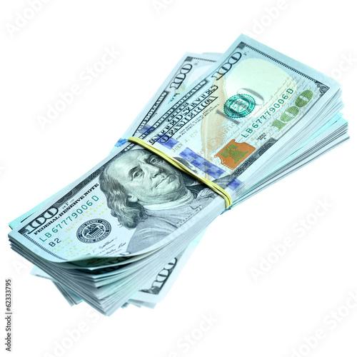 Bundles of dollars