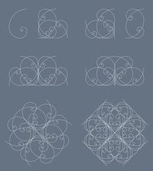 logistikon.org: golden ratio variation, ornament, 002