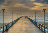 Marine pier in Palanga-famous resort at the Baltic Sea