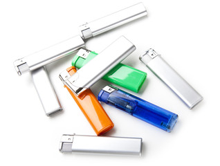 Lighters of different colors