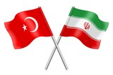 Flags: Turkey and Iran