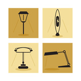lamp, lighting icon