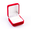 canvas print picture - Jewelry red box