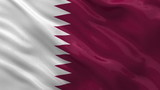 Flag of Qatar waving in the wind - seamless loop