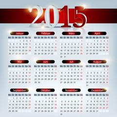 Kalender 2015 Hintergrund, glänzend rot
