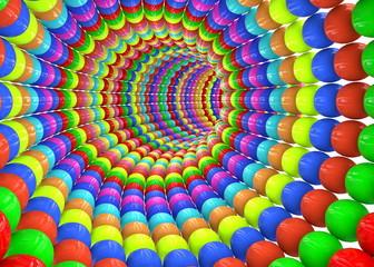 Fototapeta 3D abstrakcyjny kolorowy tunel